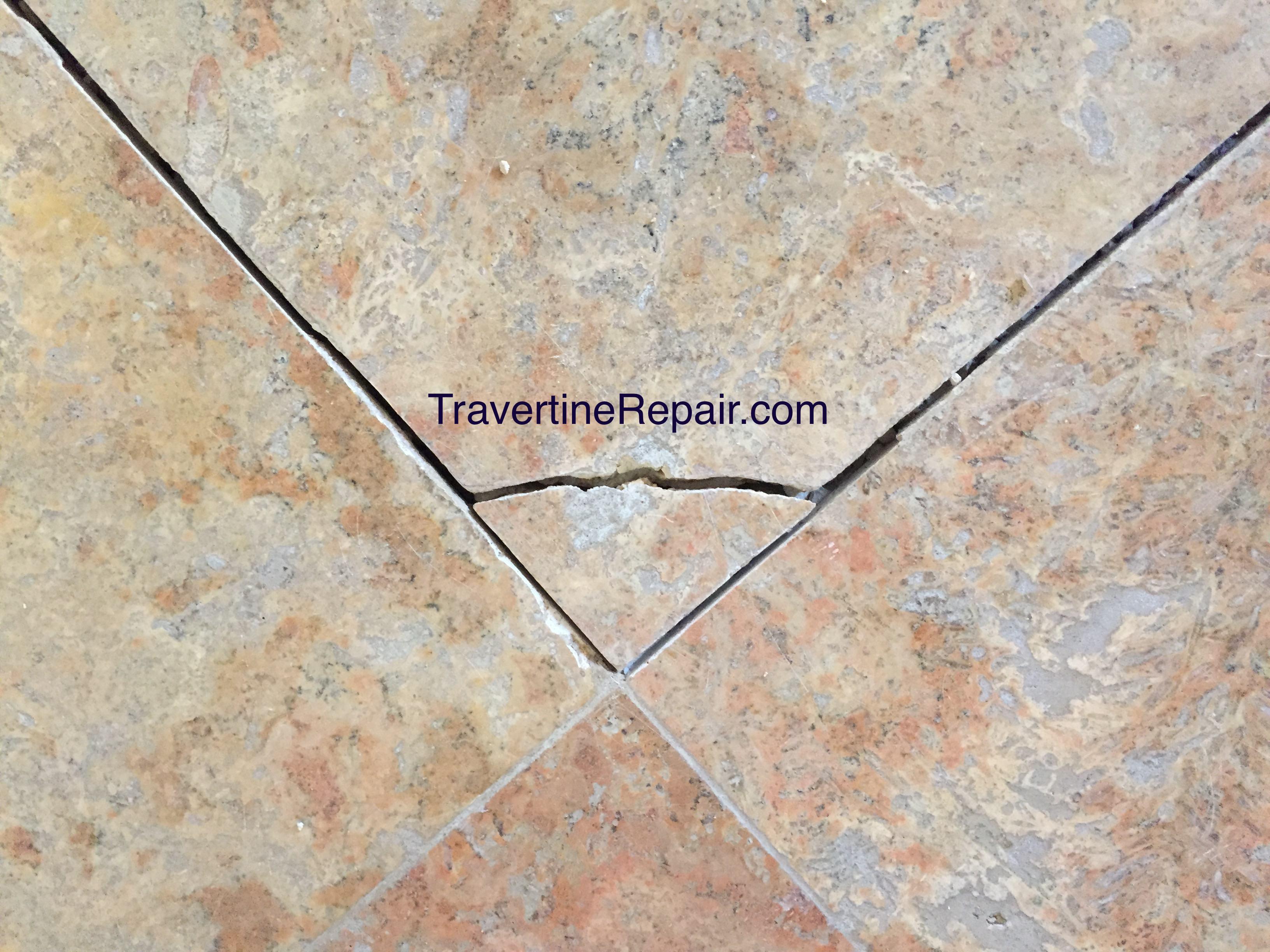 Scottsdale Travertine Repair And Sealing Crack And Chip